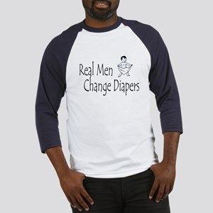 Real Men Change Diapers Baseball Jersey