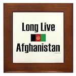 Long Live Afghanistan Framed Tile