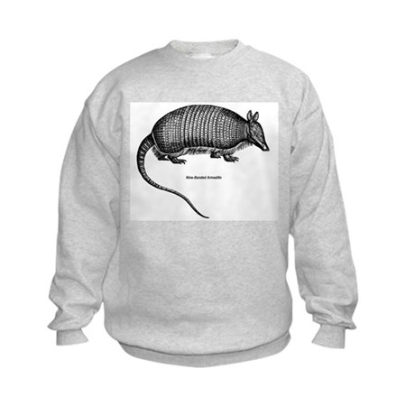 Nine-Banded Armadillo Kids Sweatshirt