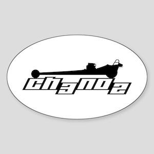 Classic Slingshot Oval Sticker
