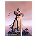 Knight Templar Small Poster