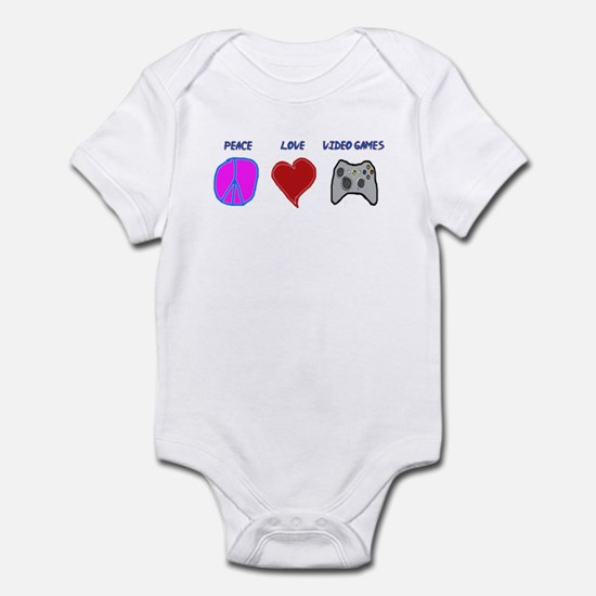 Peace love video games Infant Bodysuit