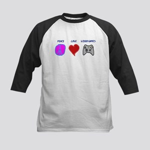 Peace love video games Kids Baseball Jersey