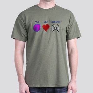 Peace love video games Dark T-Shirt