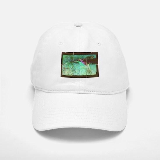 Blue Green Hummingbird Baseball Baseball Cap