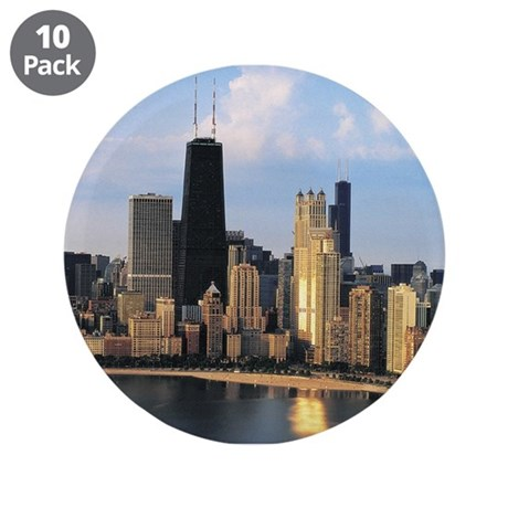 "Chicago from Lake Shore Drive 3.5"" Button (10"