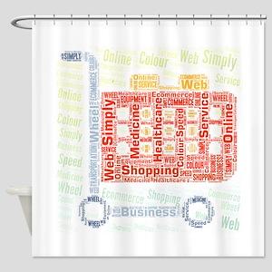 simply flat icons colour color shop Shower Curtain
