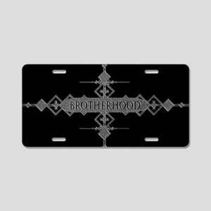 Brotherhood concept. Aluminum License Plate