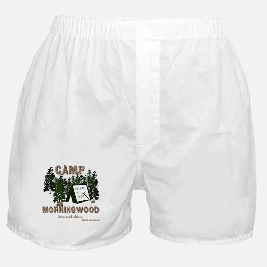 Camp Morning Wood Adult Boxer Shorts