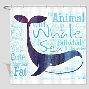 whale failwhale fat blubber sea und Shower Curtain