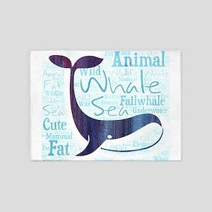 whale failwhale fat blubber sea und 5'x7'Area Rug