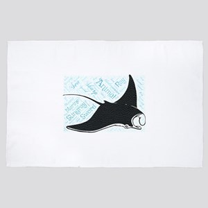 stingray sharp sword underwater sea ma 4' x 6' Rug