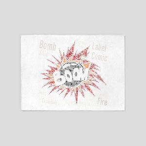 comic bomb 5'x7'Area Rug