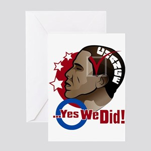 O...Yes We Did! Greeting Card