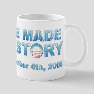 Vintage Obama - We Made History Mug