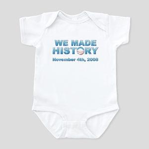 Vintage Obama - We Made History Infant Bodysuit