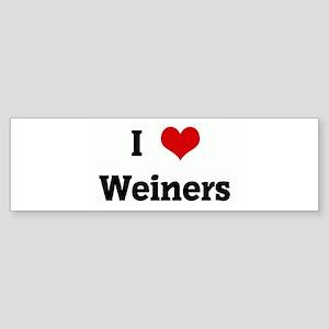 I Love Weiners Bumper Sticker