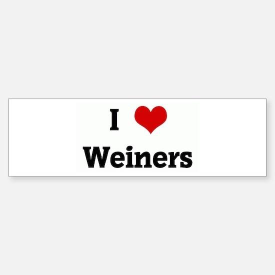 I Love Weiners Bumper Bumper Bumper Sticker