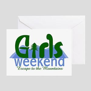 Girls weekend mountains greeting cards cafepress mountain girls weekend greeting card m4hsunfo
