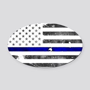 Blue Lives Matter - Police Gifts - Oval Car Magnet