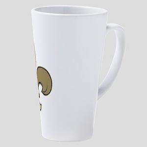 Socialization Overrated 17 Oz Latte Mug