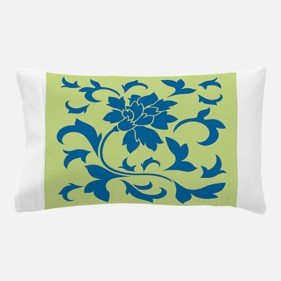 Oriental Flower - Snorkel Blue & D Pillow Case