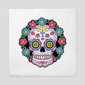 Dia de los Muertos Skull Queen Duvet