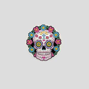 Dia De Los Muertos Skull Mini Button