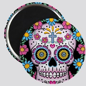 Dia De Los Muertos Skull Magnets