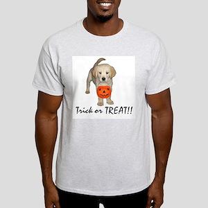 Trick or Treat Puppy Ash Grey T-Shirt