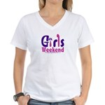 Girls Weekend in the Pink Women's V-Neck T-Shirt