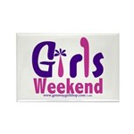 Girls Weekend in the Pink Rectangle Magnet