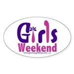 Girls Weekend in the Pink Oval Sticker