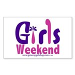 Girls Weekend in the Pink Rectangle Sticker