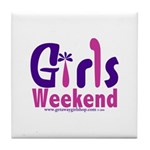 Girls Weekend in the Pink Tile Coaster