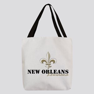 New Orleans Louisiana gold Polyester Tote Bag