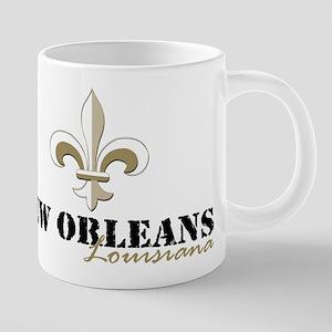 New Orleans Louisiana gold 20 oz Ceramic Mega Mug