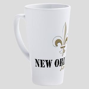New Orleans Louisiana gold 17 oz Latte Mug