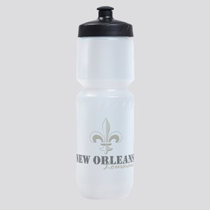 New Orleans Louisiana gold Sports Bottle