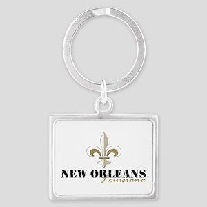 New Orleans Louisiana gold Landscape Keychain