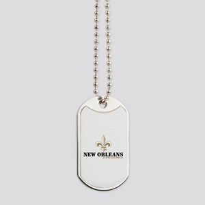 New Orleans Louisiana gold Dog Tags