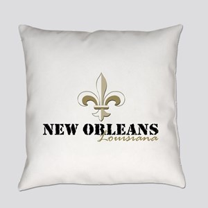 New Orleans Louisiana gold Everyday Pillow