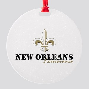 New Orleans Louisiana gold Round Ornament