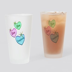 Live Love Scrapbook Drinking Glass