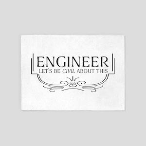 Civil Civil Engineer 5'x7'Area Rug