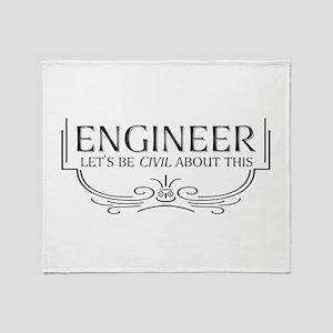 Civil Civil Engineer Throw Blanket