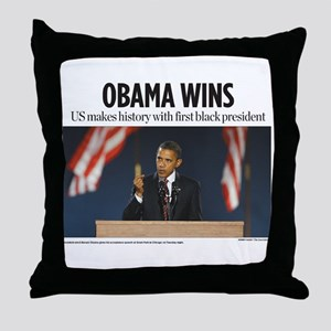 Obama Wins Throw Pillow