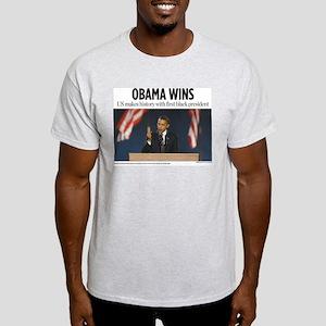 Obama Wins Light T-Shirt