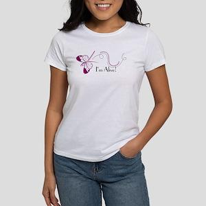 Breast Cancer Butterfly Women's T-Shirt
