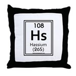 Hassium Throw Pillow